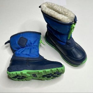 Carter's Winter Snow Boots Zip Up Faux Fur Trim